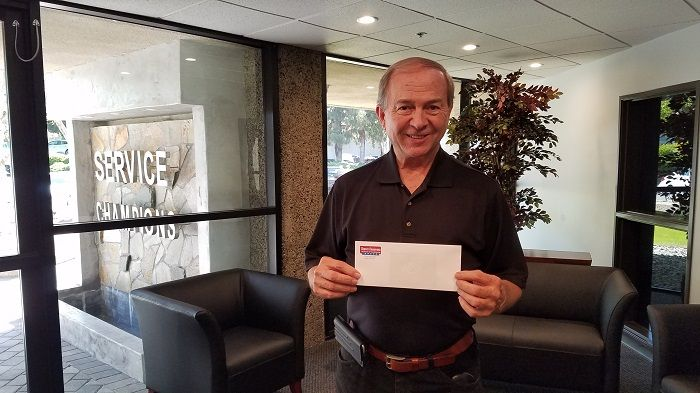 Congratulations to John H. from Brea on winning our April ...