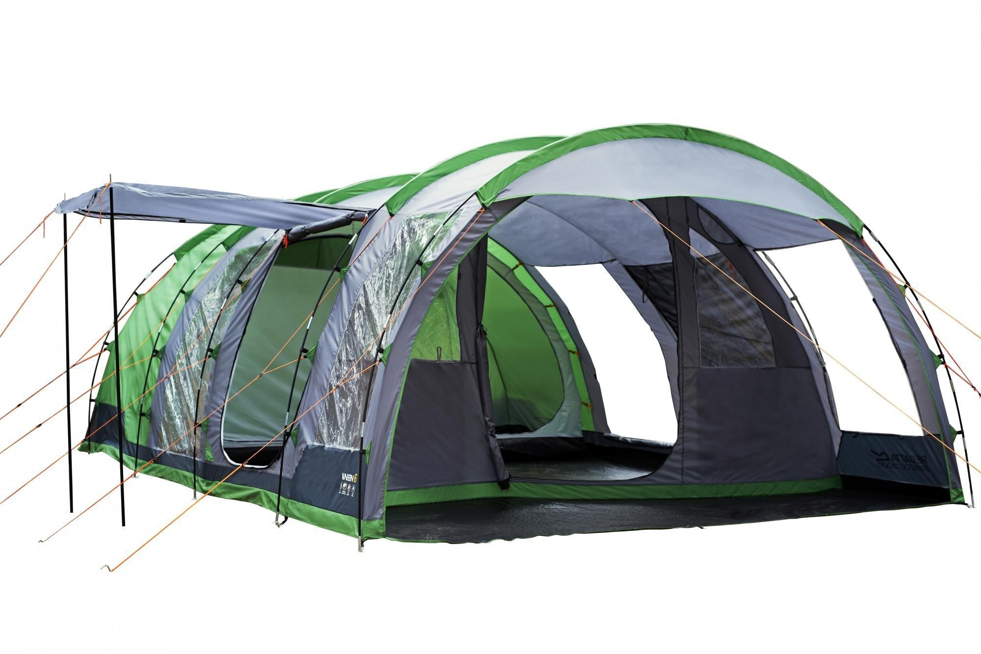Regatta Tunnel Tent - 6 Man Vanern Family Tent - Green  sc 1 st  Pinterest & Regatta Tunnel Tent - 6 Man Vanern Family Tent - Green   Tents ...