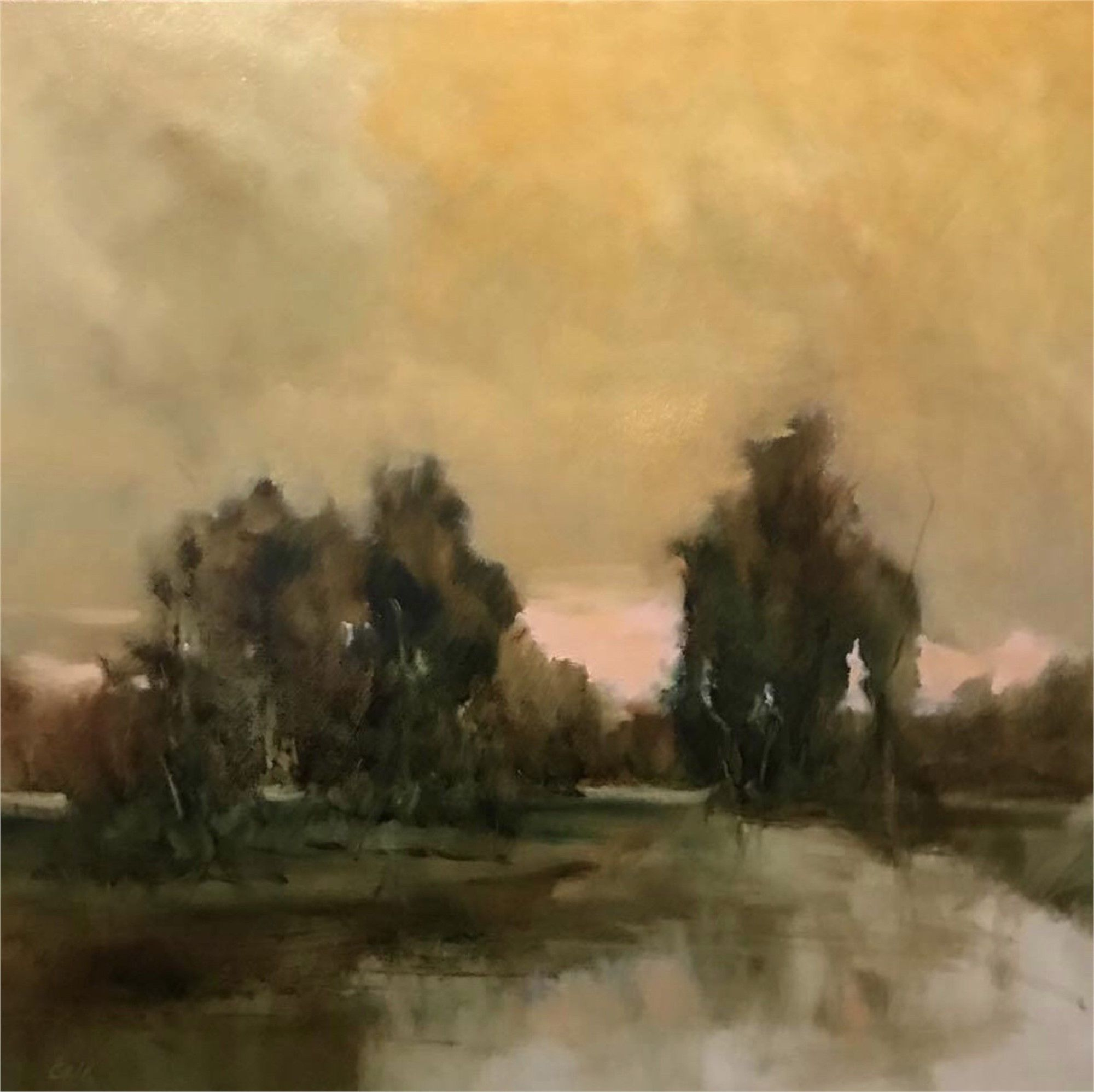 Placid Waters Original Oil Painting By James Calk Lowcountry Landscape Oil Painting Abstract Original Oil Painting Fine Art