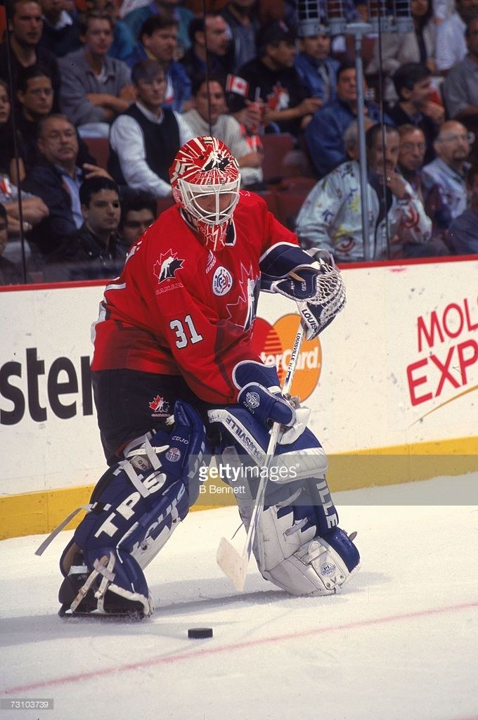 Canadian Hockey Player Curtis Joseph Goalkeeper For Team Canada In Picture Id73103739 680 1024 Canadian Hockey Players National Hockey League Team Canada