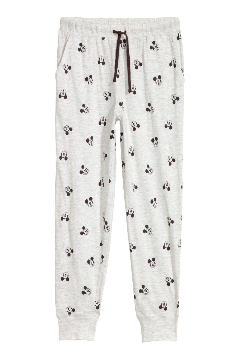 1693f209309 Pajama Pants   Light gray/Mickey Mouse   WOMEN   H&M US   Mon Style ...