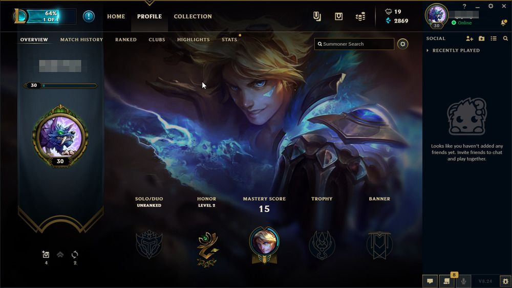 League of Legends Account EUW LOL ACC Unranked Smurf 30 LVL