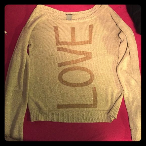 Charlotte Russe sweater Sparkly gold sweater Charlotte Russe Sweaters
