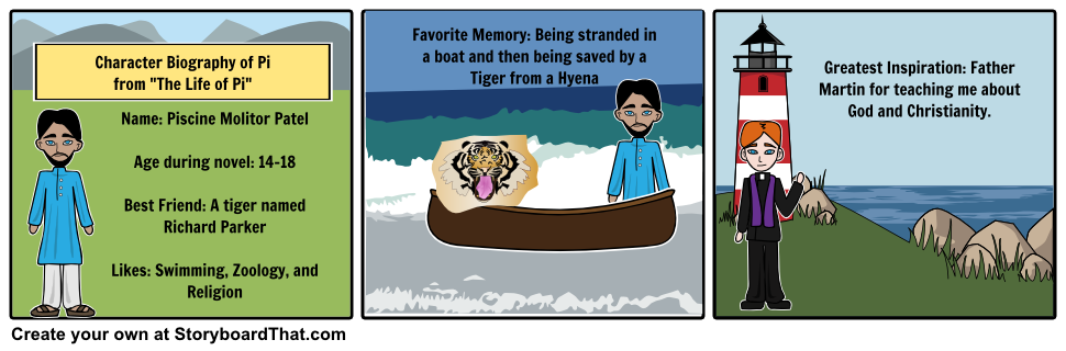 Life Of Pi Storyboard Life Of Pi Pinterest Life Of Pi Teacher