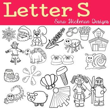 Chubby Cheek Clipart Letter S Black And White Only Sara