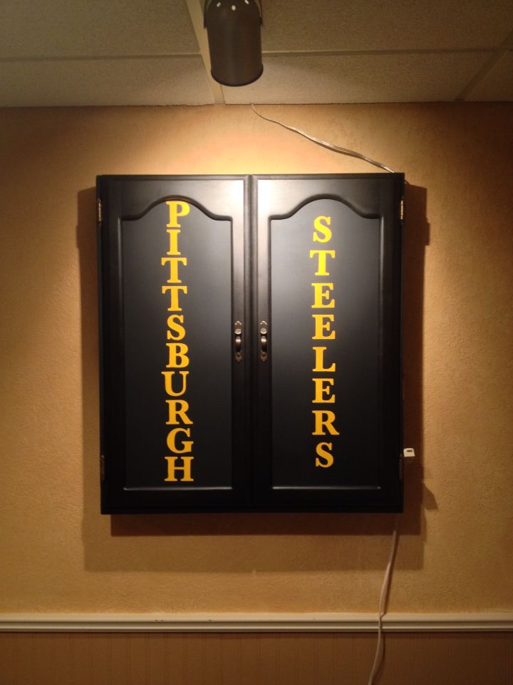 Pittsburgh Steelers Dartboard Cabinet