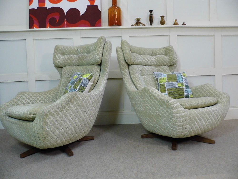 Peachy Stylish Vintage Retro Parker Knoll Egg Swivel Recliner Evergreenethics Interior Chair Design Evergreenethicsorg