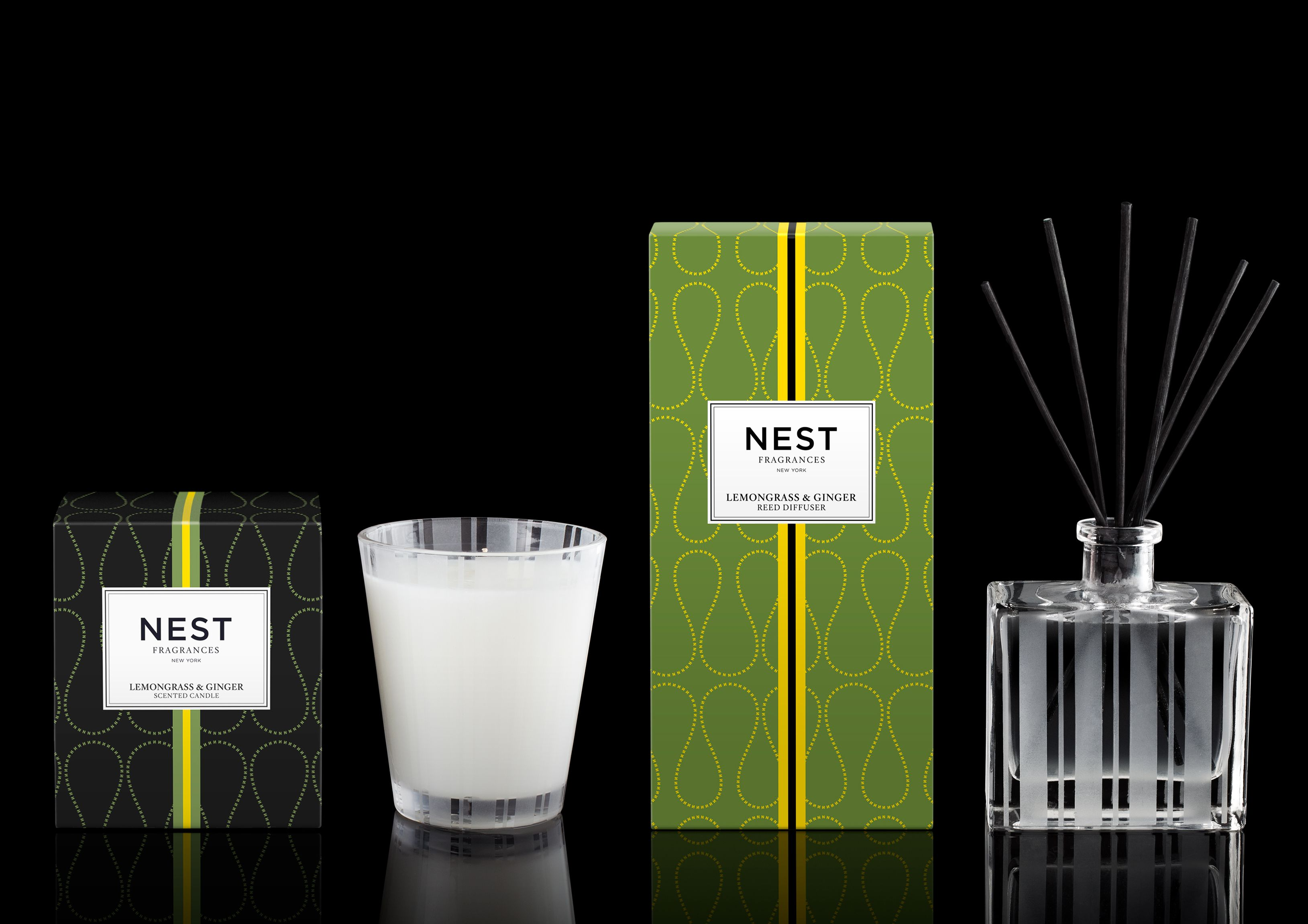 Lemongrass & Ginger Classic Candle and Reed Diffuser #NESTFragrances #HomeFragrance