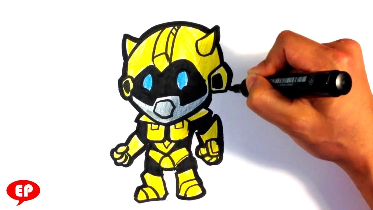 How To Draw Transformers Cute Bumblebee Easy Pictures To