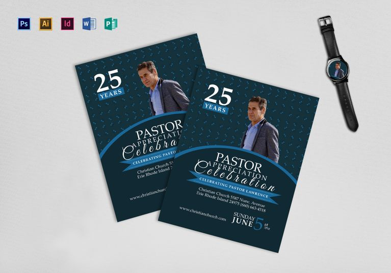 Pastor Anniversary Flyer Design Flyer Templates Pinterest - anniversary flyer