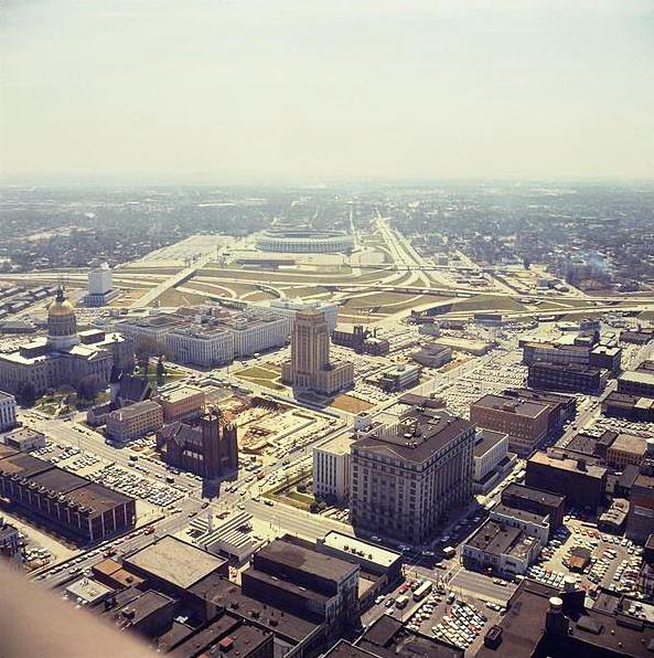 1970 View Of The Ga State Capitol Building Atlanta City Hall And Atlanta Stadium Atlanta City Georgia History Capitol Building