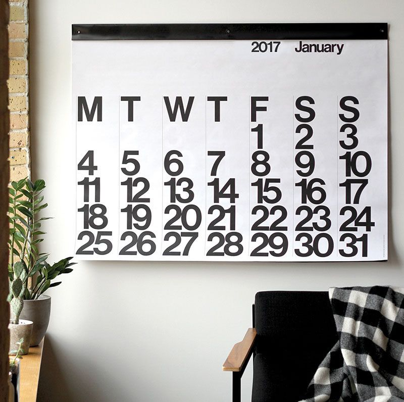 13 Modern Wall Calendars To Get You Organized For 2017 Packing