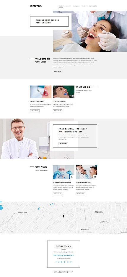 Dental Clinic  Services #website #template #themes #business