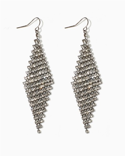 Gunmetal Dangly Earrings