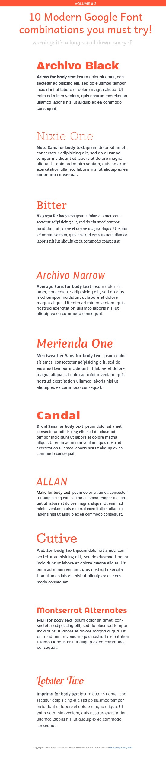 10 great modern google font combinations  typography  googlefonts  fontcombination  webfont