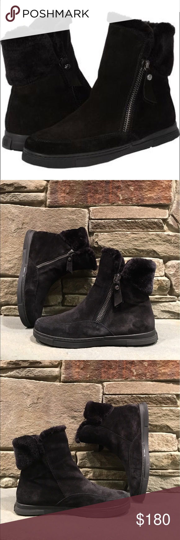 889715345ab4 Stuart Weitzman Furgie Boot The Stuart Weitzman Furgie Boots feature a  Suede upper with a round