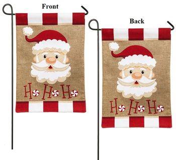 buy a santa ho ho ho 2 sided burlap christmas garden flag for the holidays at - Santa Hohoho 2