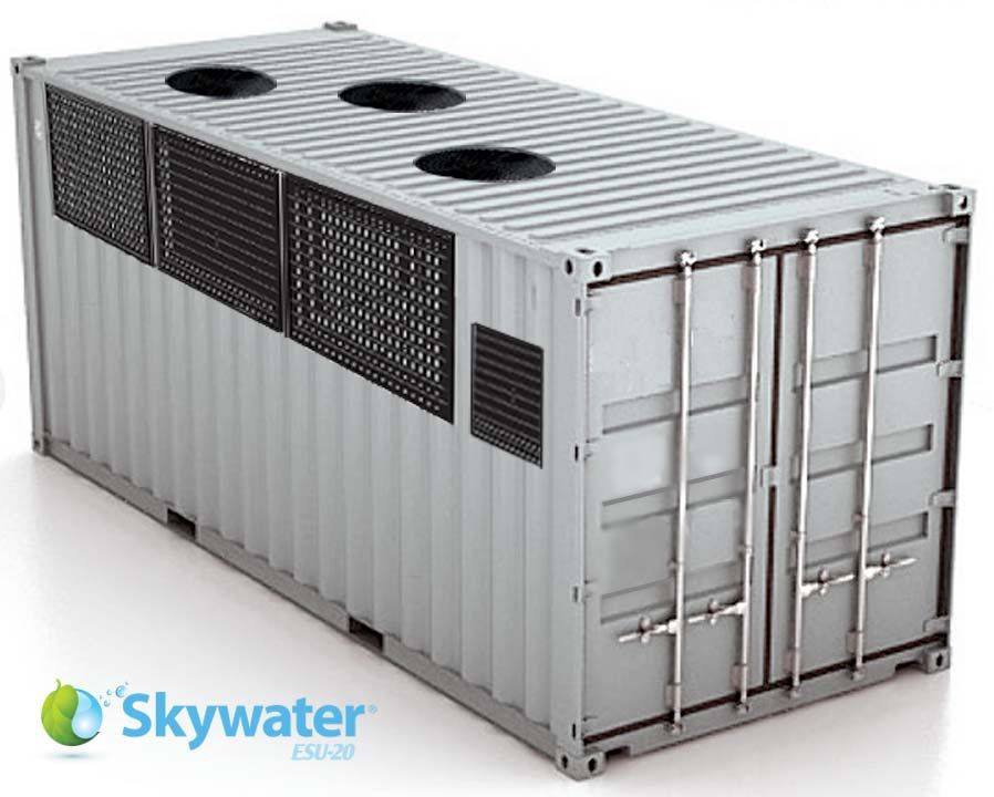 Skywater Esu 20 Self Sustaining Emergency Water Container Water Purification System Water Purification Water Generator