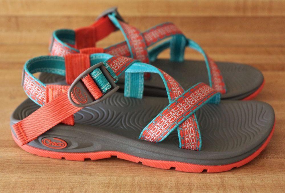 0382731a0 Chaco Womens Zvolv Athletic Sandal Camino Orange Blue Straps Size 7 M US   Chaco  SportSandals