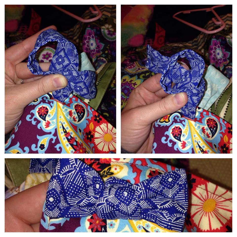 835fa2cfcdb Tying a Matilda Jane Bow Knot for knot tops and dresses 1. Make a loop with  the free end crossing over the top. 2. Wrap the free end around to the  back