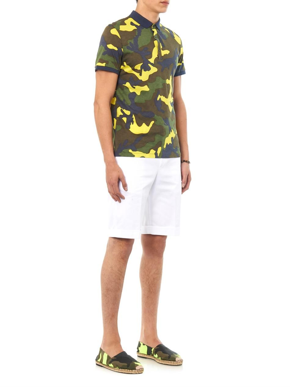 68d3e1c62 Fluro camouflage-print espadrilles | Valentino | Shown here with Balenciaga  Tailored cotton shorts, Valentino Camouflage-print jersey polo shirt and  Luis ...