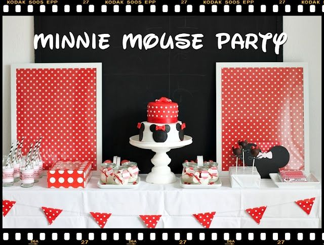 Minnie Mouse Party Simple And Very Cute Parties Minnie