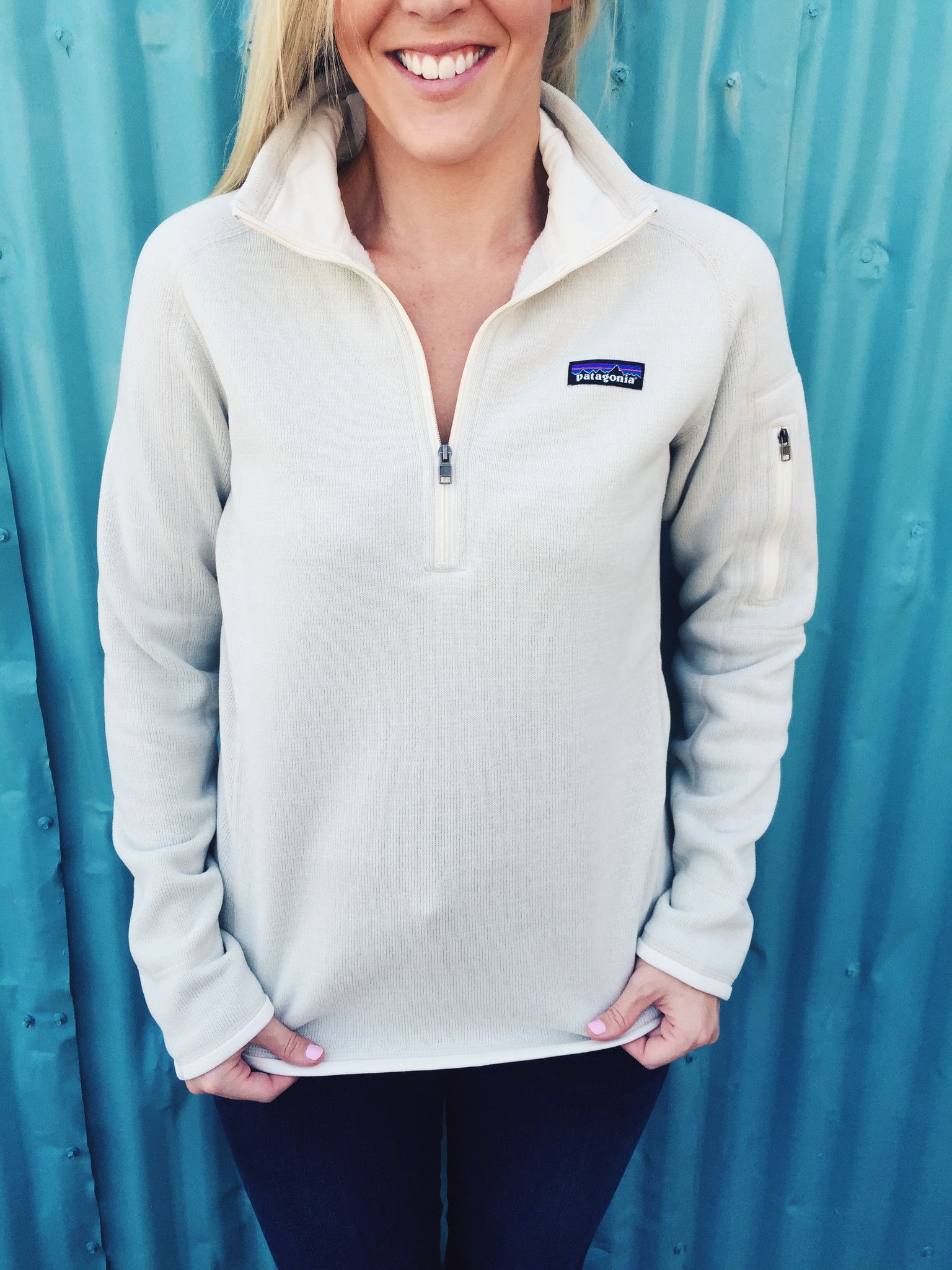 Patagonia Women S Better Sweater 1 4 Zip Raw Linen From