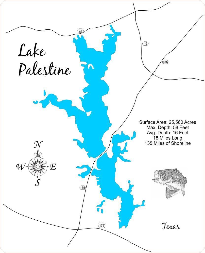 lake palestine texas map Pin On Lake Palestine Texas lake palestine texas map