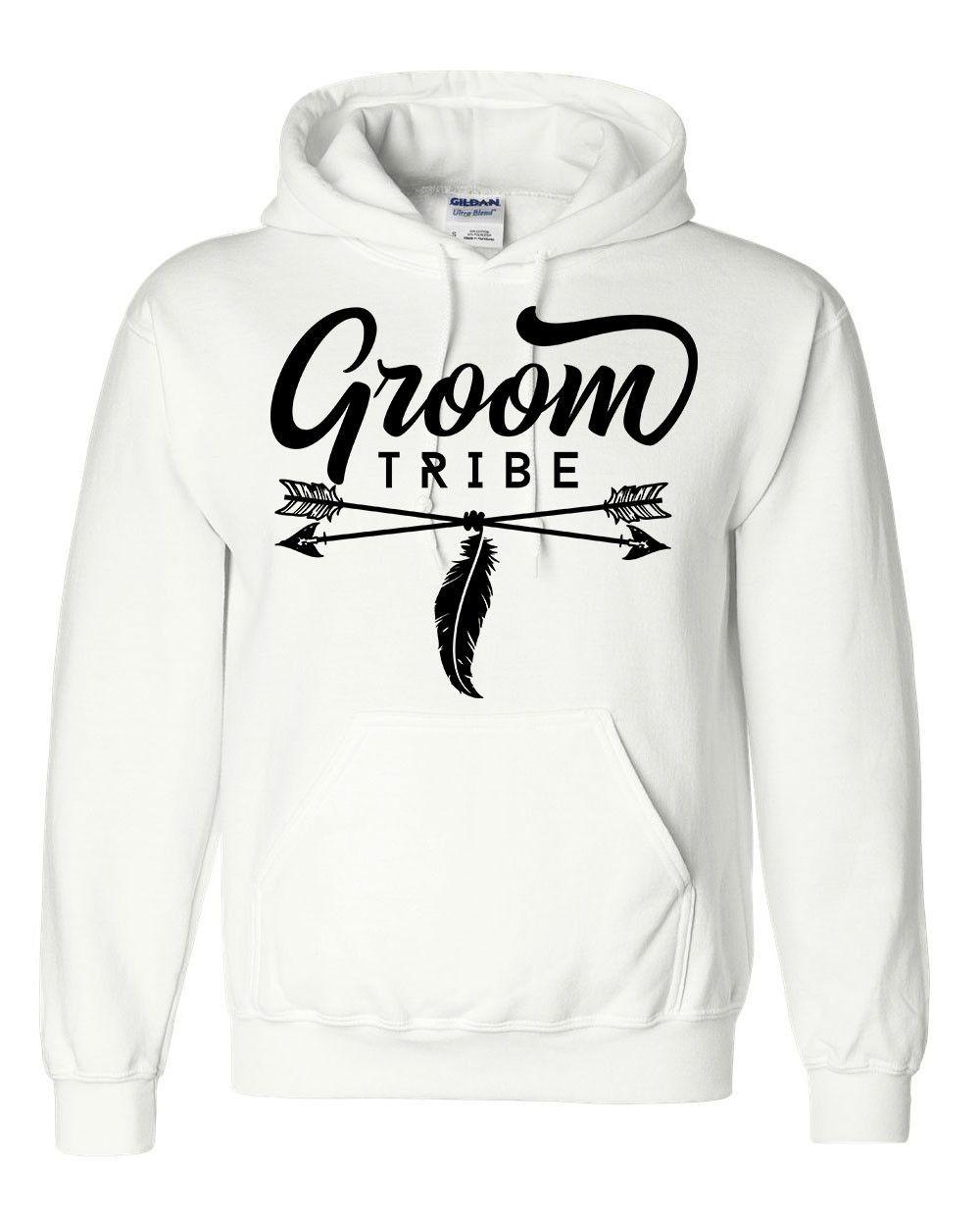 Wedding Gift From Groomsmen: Groom Tribe Hoodie Groomsman Bachelor Party Sweatshirt