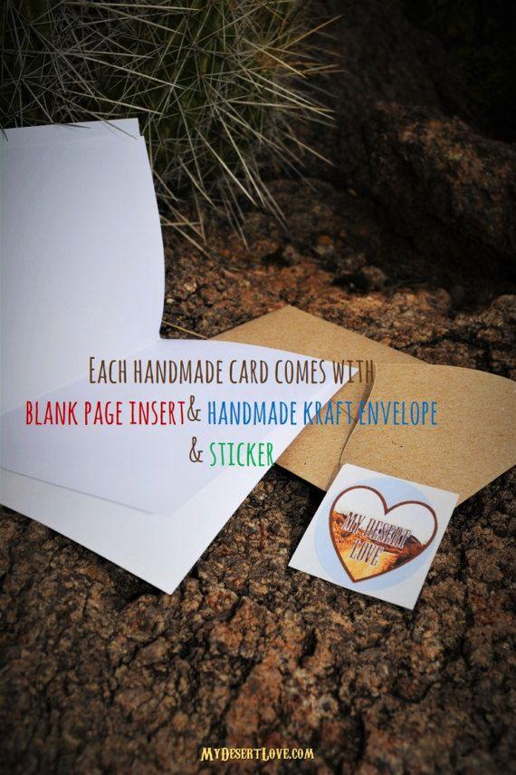Thank You Cards Gift Set 4 Handmade Desert by MyDesertLoveDesigns