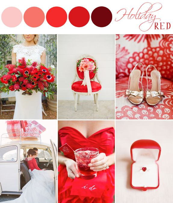 Color Palette Holiday Red The Bride S Cafe Blog