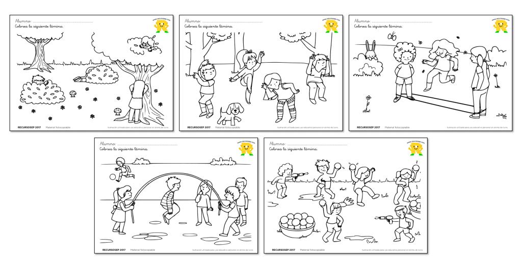 Láminas para colorear: Juegos tradicionales | PLASTICA expressões ...