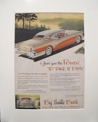 1957 Matted American Buick Car Advertisement, Power to Take it Easy