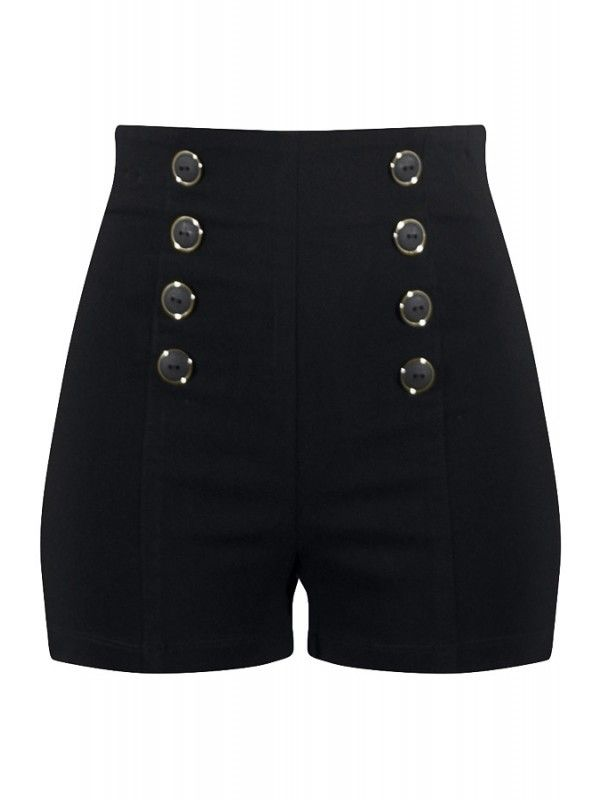 Steampunk wardrobe! | Double Trouble Women's High Waisted Pin Me Up Shorts