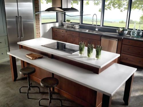 white marble countertop kitchen | modern kitchen countertop for your modern kitchen design