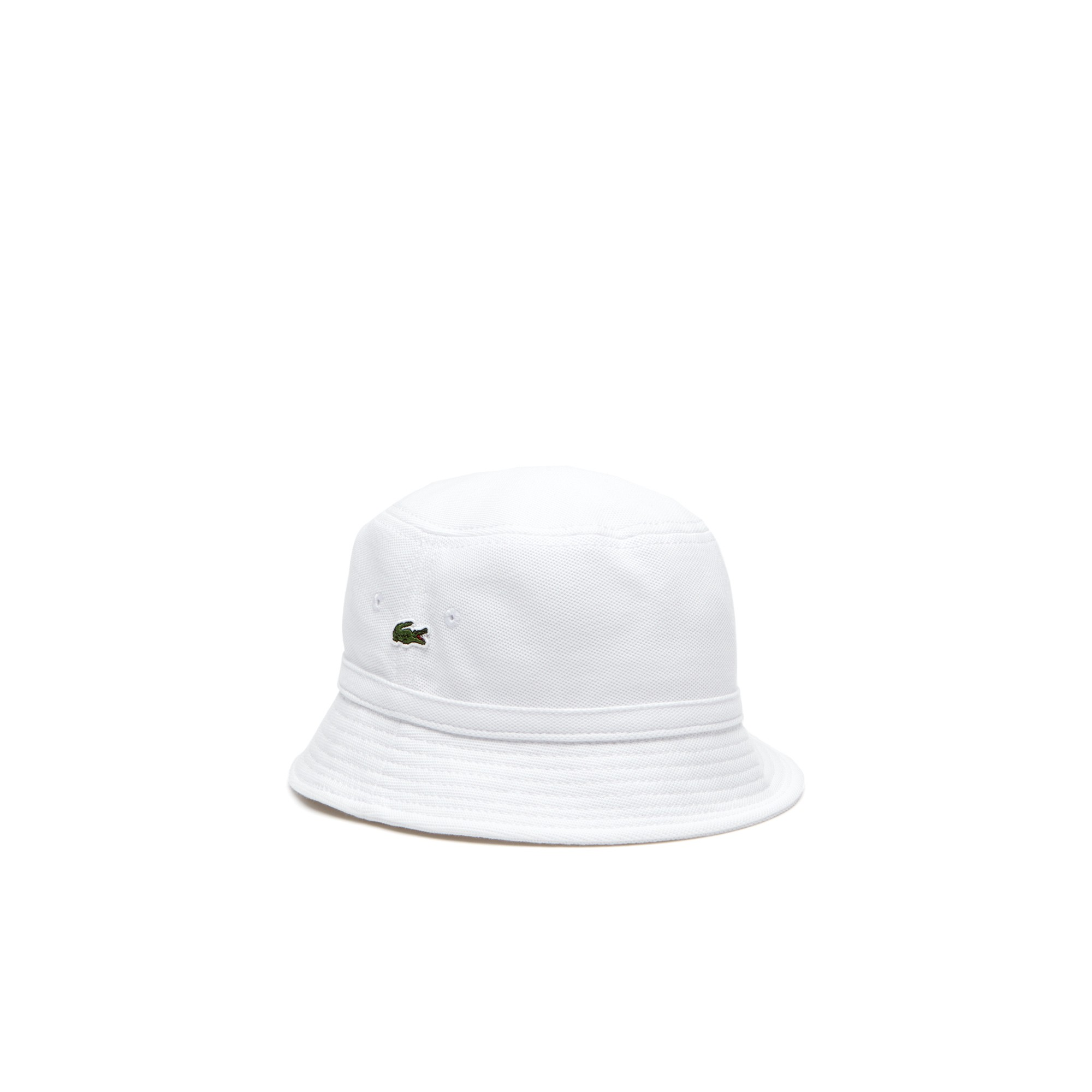 6fedb462fd8 Lacoste Men s Cotton Piqué Bucket Hat - Silver Grey Chine M ...