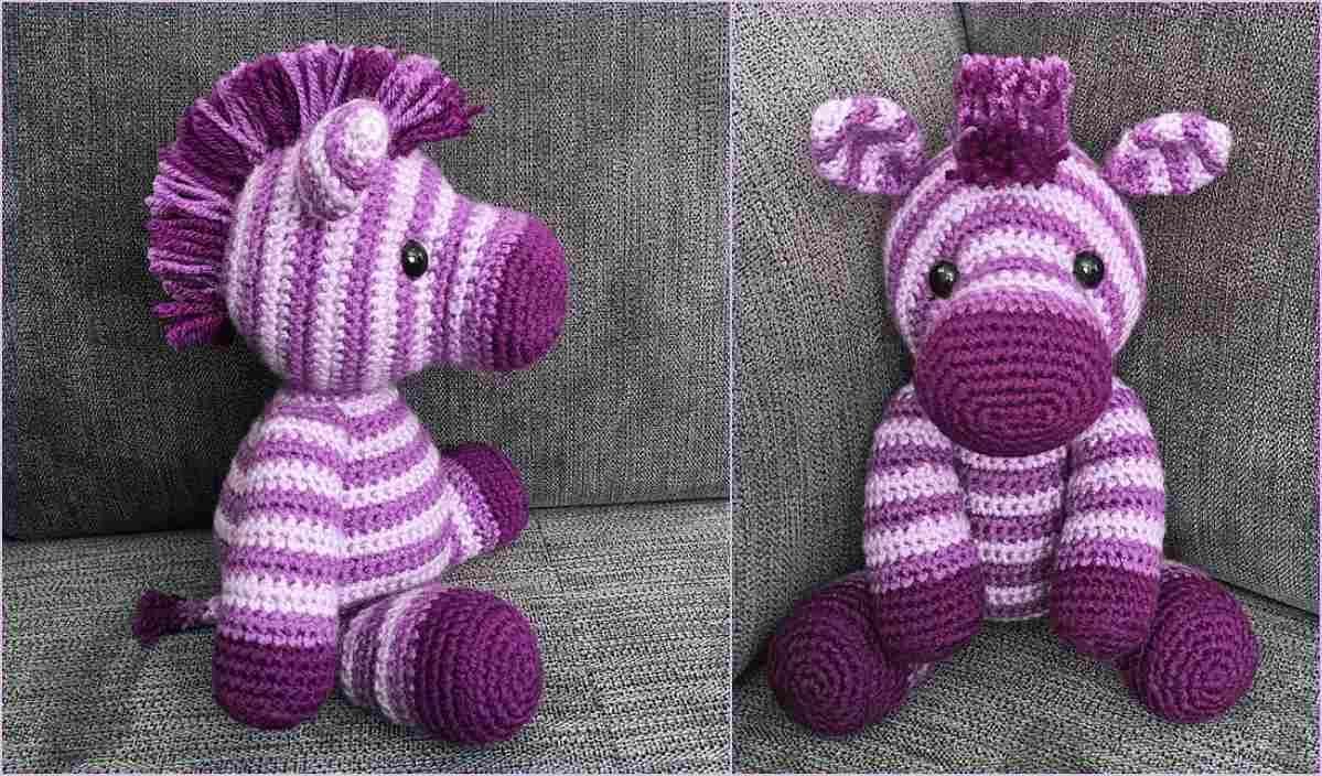 Zane the Zebra Free Crochet Pattern | Crochet animal ...