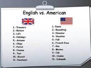 British versus American English - Bing Immagini | British vs