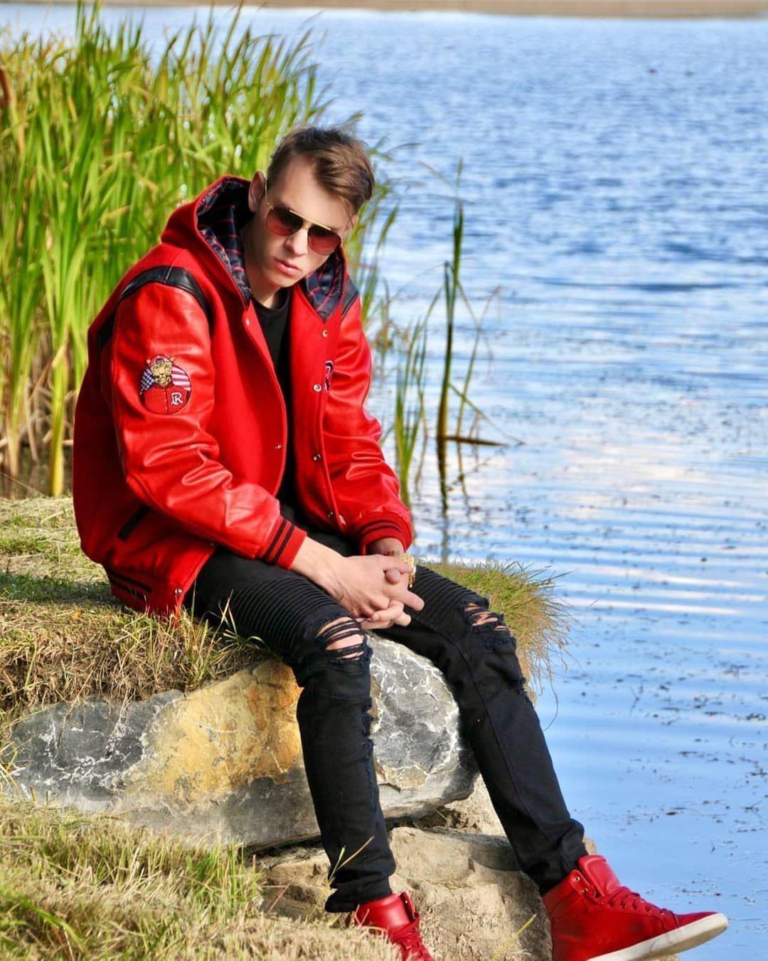 Red varsity jacket tyga b ... #varsityjacketoutfit Red varsity jacket tyga b ... #varsityjacketoutfit