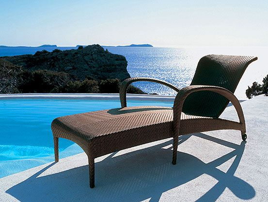 Dedon Tango Chaise Lounge designed by Richard Frinier Image - lounge gartenmobel outlet