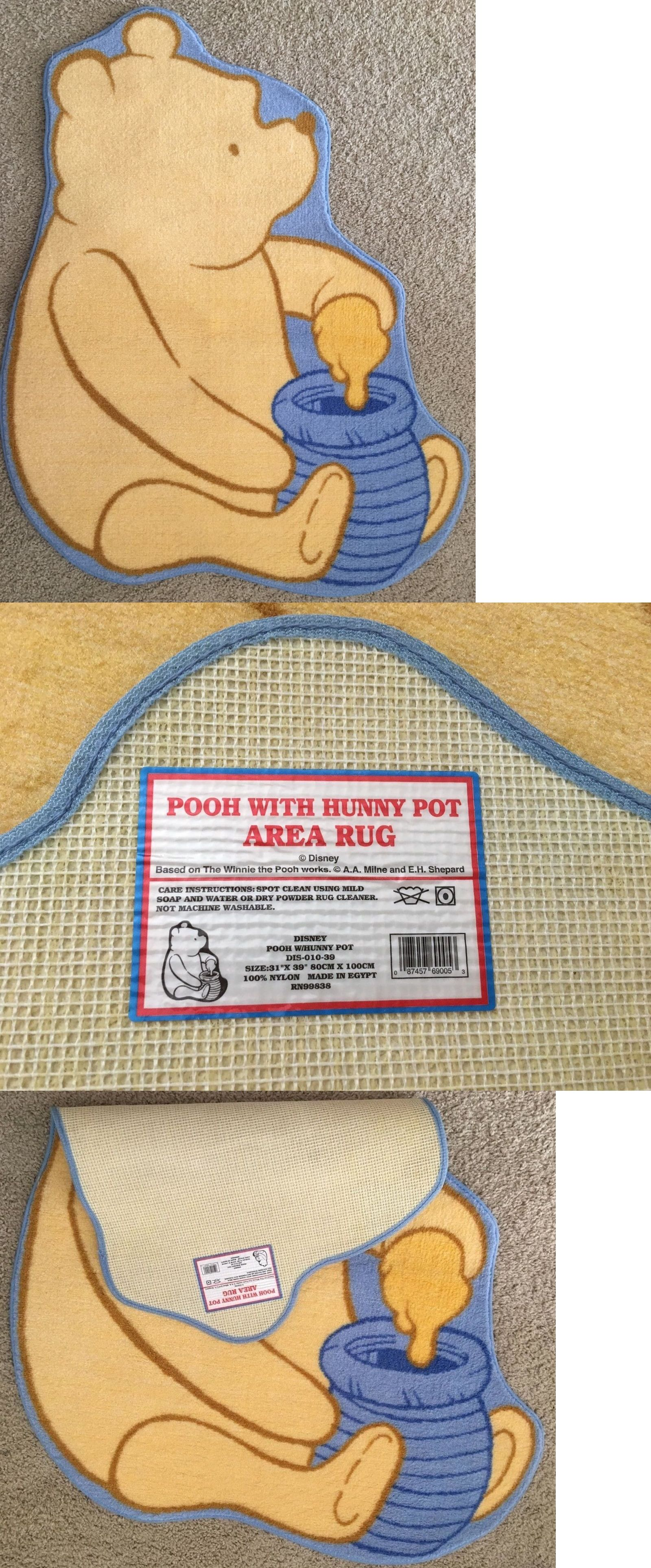 Winnie the Pooh Disney Pooh With Hunny Pot Area Rug Carpet 31