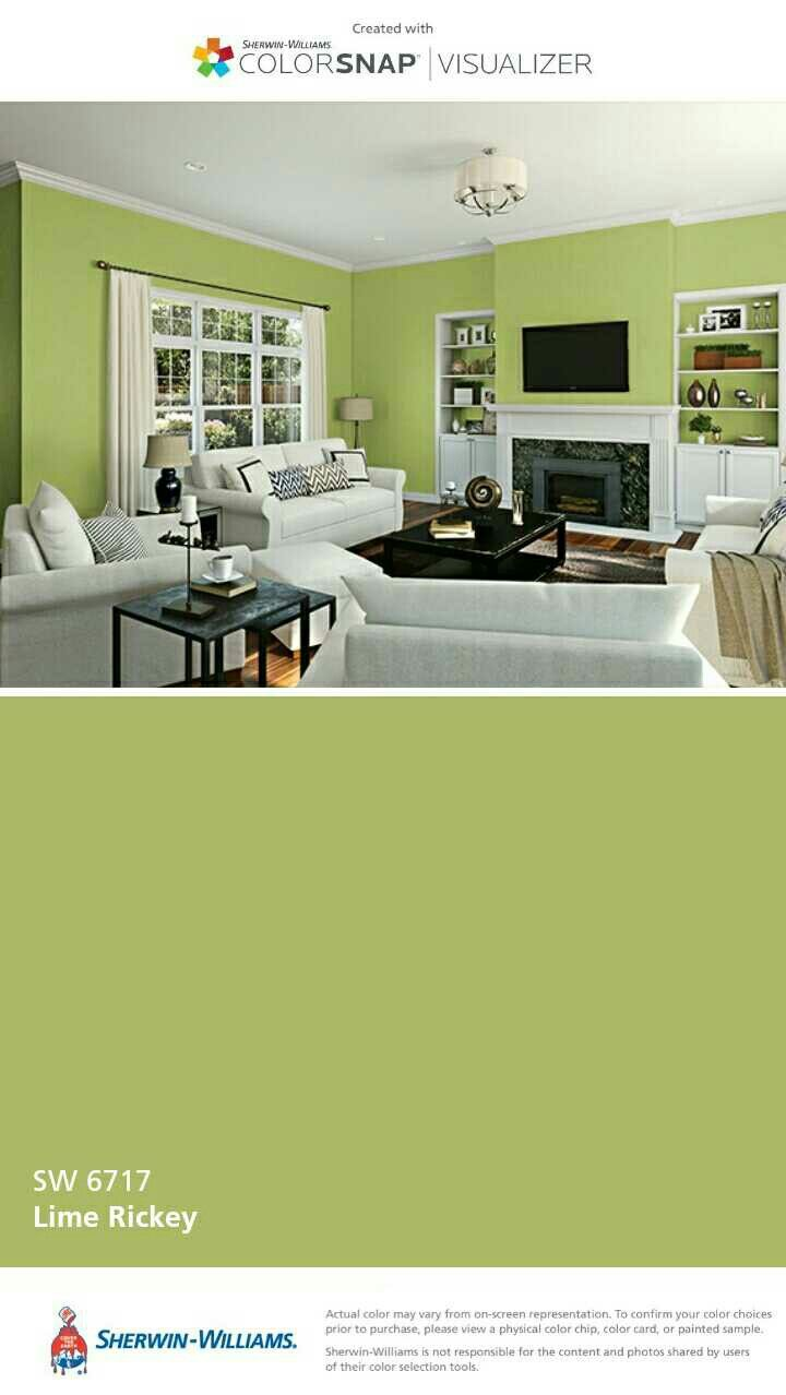 Sherwin Williams Lime Rickey Basement Walls Wall Colors Dining Room