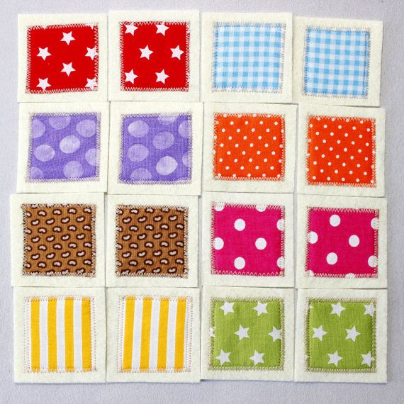 Matching Cards, Busy Bags, Fabric Memory Toddler Game, Montessori ...