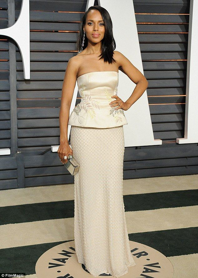 Handled! Kerry Washington was spectacular in a strapless Miu Miu gown...