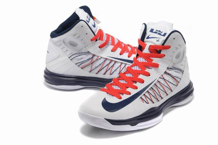 Nike Lunar Hyperdunk X 2012 Women Shoes White/Blue Womens Basketball Shoes