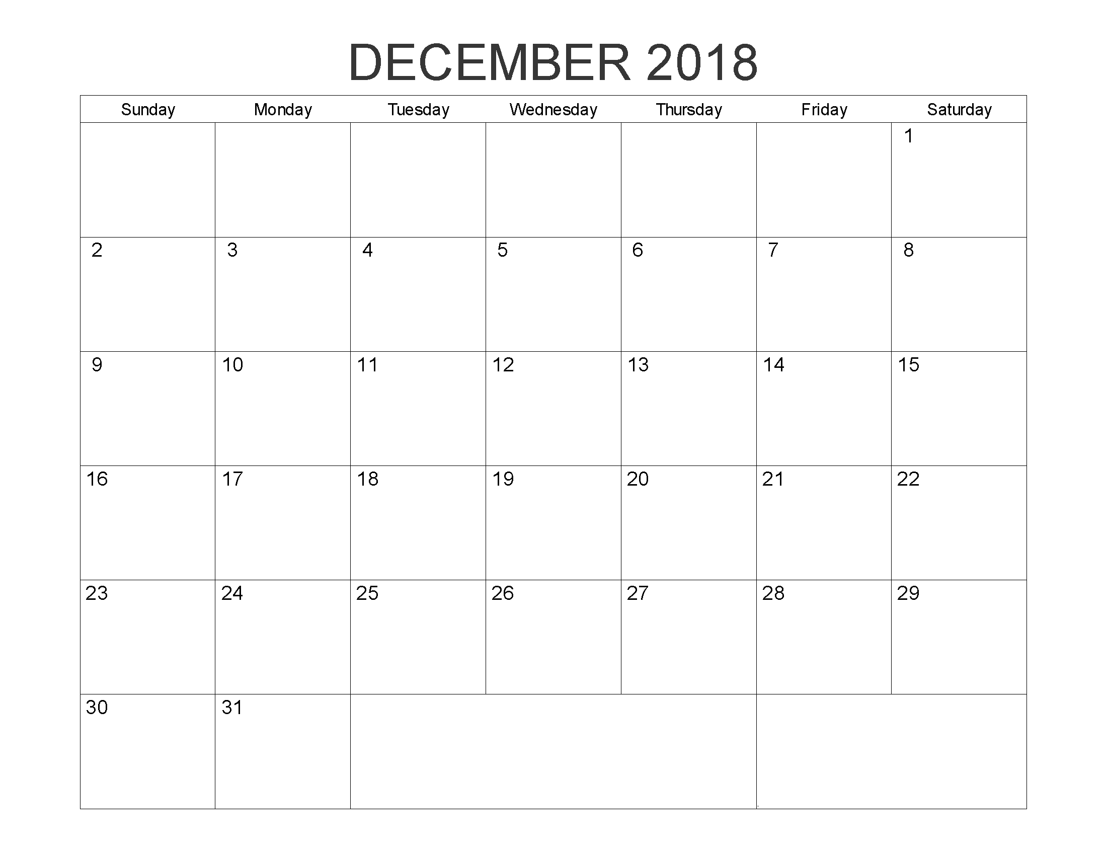image relating to Printable Word Calendar known as december 2018 editable term calendar 2018 Calendars