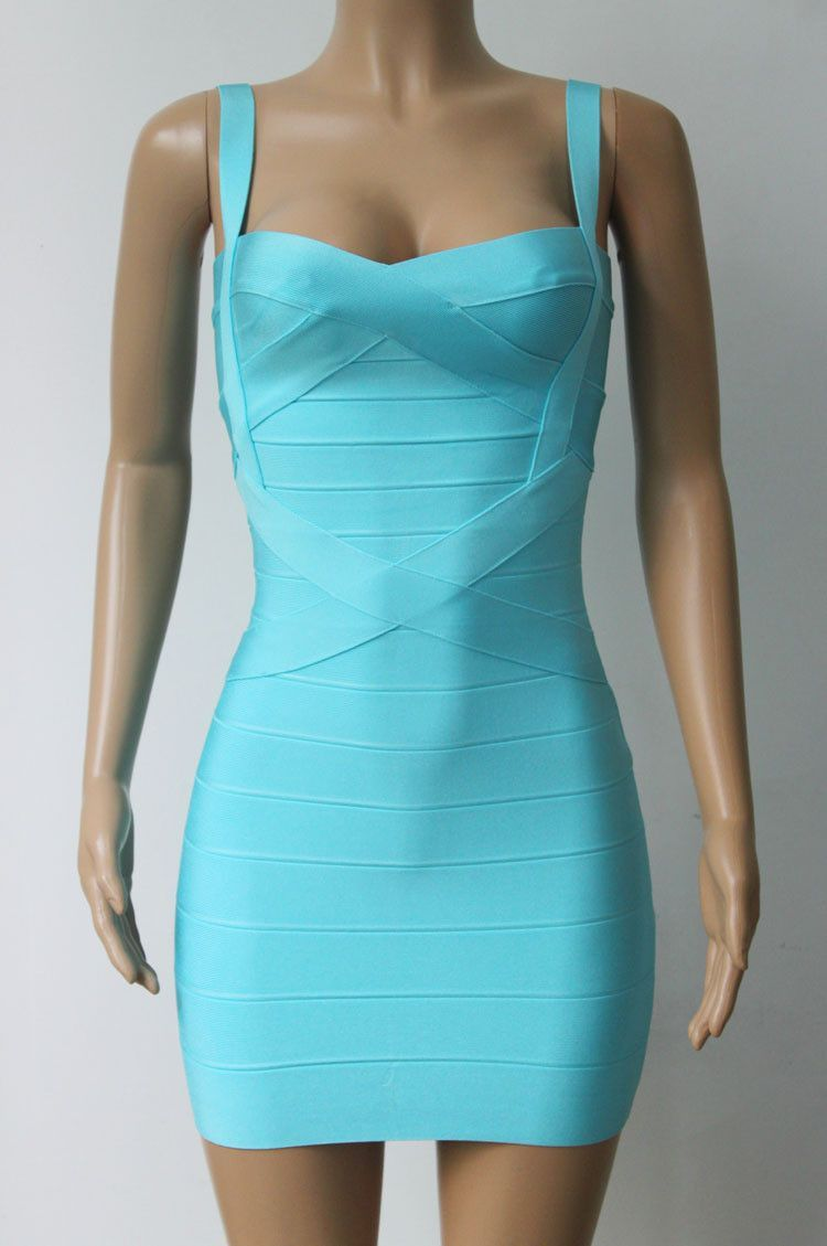 Women sexy bandage dress summer front crosses 8 solid colors ...
