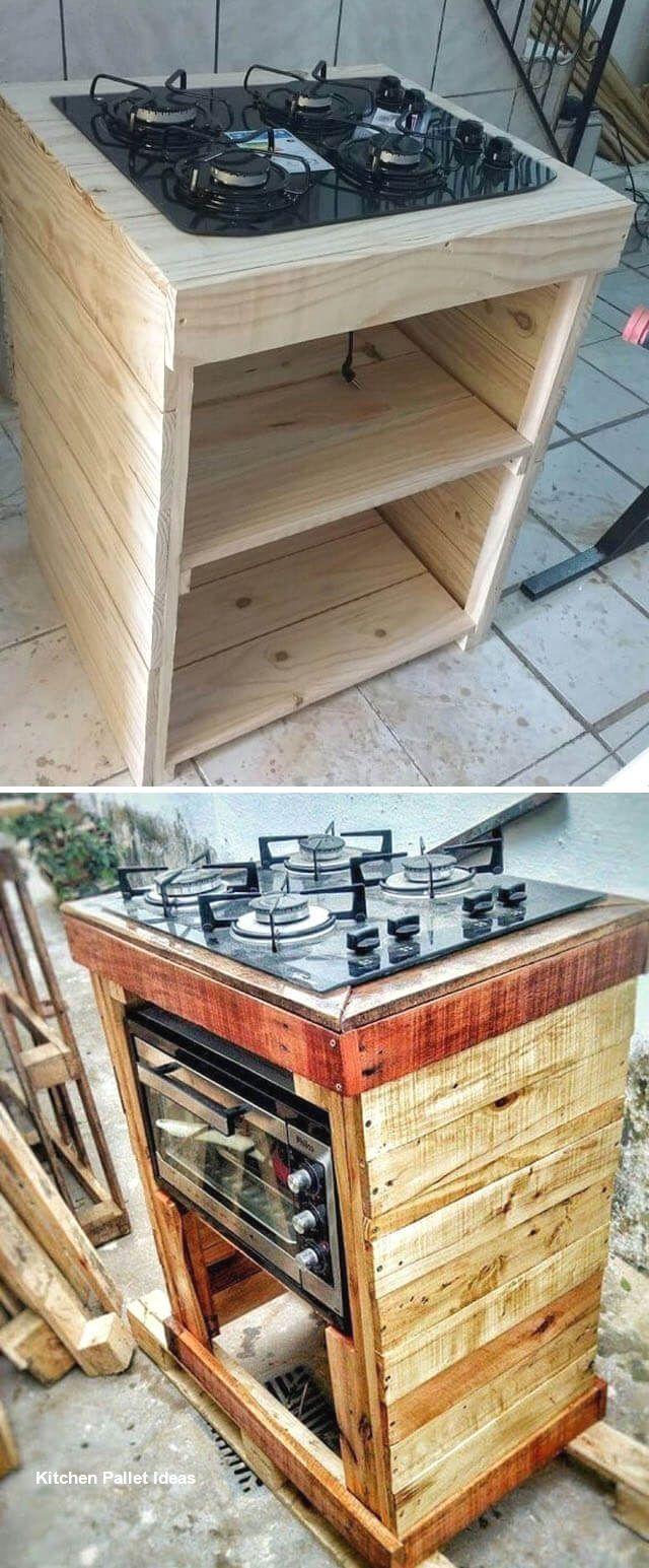 Kitchen DIY Pallet Ideas Diy kitchen, Pallet kitchen