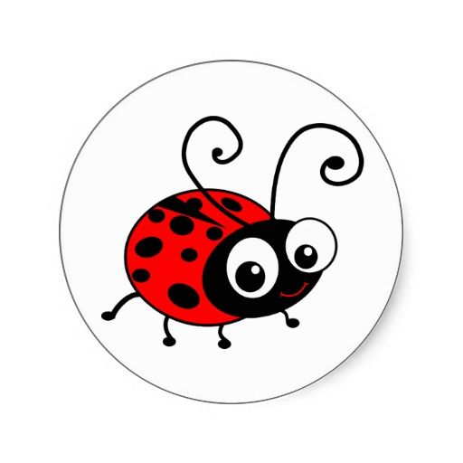 Cartoon Ladybug | Ladybug Ladybugs Ladybird Ladybirds Lady Bug Lady Bird  Red Black Polka .