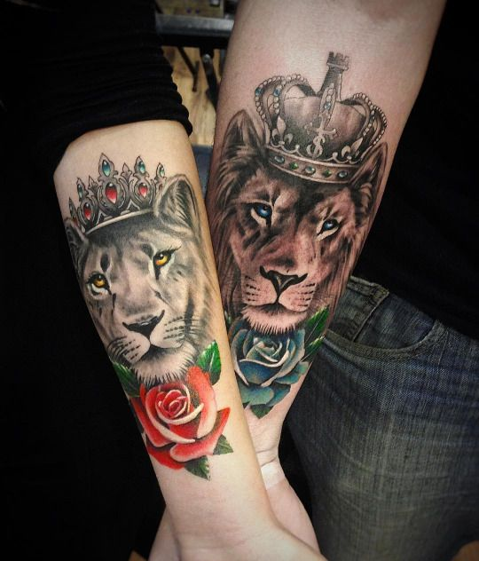Every King Needs His Queen Tattoos Couple Tattoos Tattoos